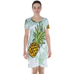 Pineapple Pattern 05 Short Sleeve Nightdresses