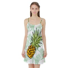 Pineapple Pattern 05 Satin Night Slip