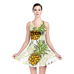 Pineapple Pattern 06 Reversible Skater Dresses
