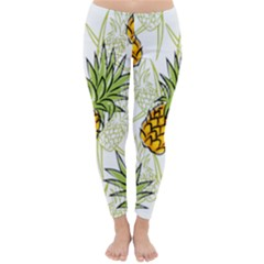 Pineapple Pattern 06 Winter Leggings