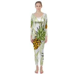 Pineapple Pattern 06 Long Sleeve Catsuit