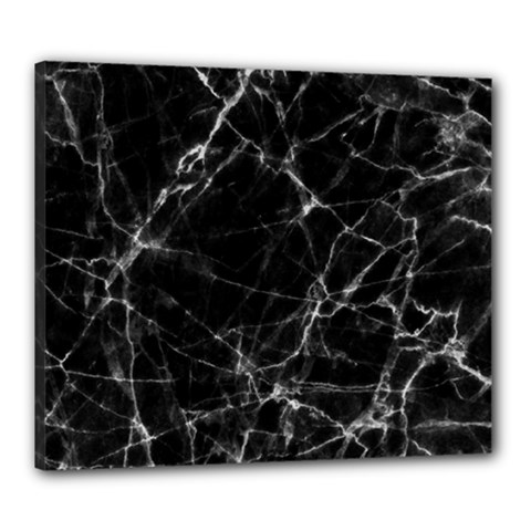 Black marble Stone pattern Canvas 24  x 20