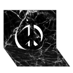 Black marble Stone pattern Peace Sign 3D Greeting Card (7x5)