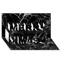 Black marble Stone pattern Merry Xmas 3D Greeting Card (8x4)