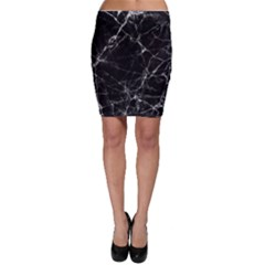 Black marble Stone pattern Bodycon Skirts