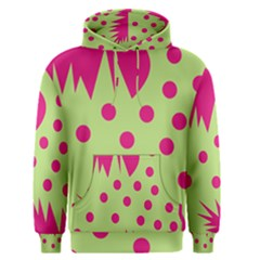 Fuzzy Animals Green And Pink Men s Pullover Hoodies