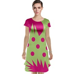 Fuzzy Animals Green And Pink Cap Sleeve Nightdresses