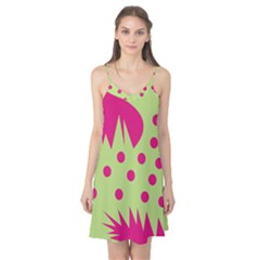 Fuzzy Animals Green And Pink Camis Nightgown