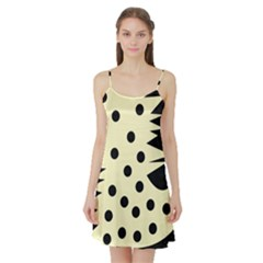 0012h Paleyellowandblackabstract1 Satin Night Slip