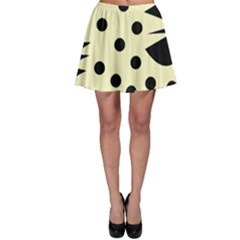 0012h Paleyellowandblackabstract1 Skater Skirts