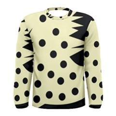 0012h Paleyellowandblackabstract1 Men s Long Sleeve T-shirts