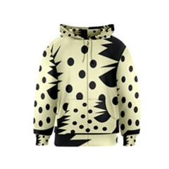 0012h Paleyellowandblackabstract1 Kids Zipper Hoodies