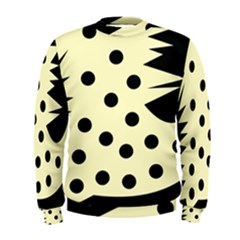 0012h Paleyellowandblackabstract1 Men s Sweatshirts