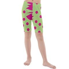 0012b Moongreenandmagentaabstract1 Kid s swimwear