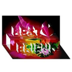 Awesome F?owers With Glowing Lines Best Friends 3D Greeting Card (8x4)