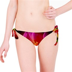Awesome F?owers With Glowing Lines Bikini Bottoms