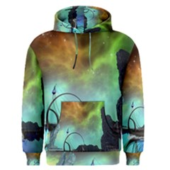 Fantasy Landscape With Lamp Boat And Awesome Sky Men s Pullover Hoodies