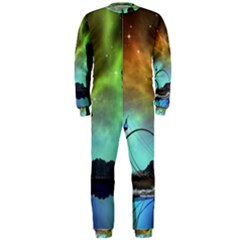 Fantasy Landscape With Lamp Boat And Awesome Sky OnePiece Jumpsuit (Men)