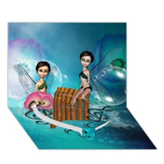 Music, Pan Flute With Fairy Heart Bottom 3D Greeting Card (7x5)
