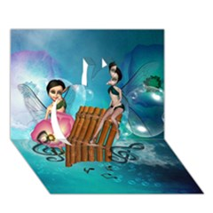 Music, Pan Flute With Fairy Apple 3d Greeting Card (7x5)