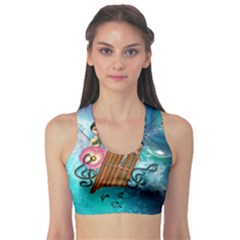 Music, Pan Flute With Fairy Sports Bra