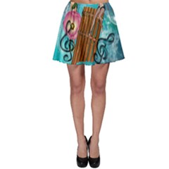 Music, Pan Flute With Fairy Skater Skirts