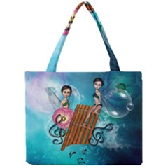 Music, Pan Flute With Fairy Tiny Tote Bags