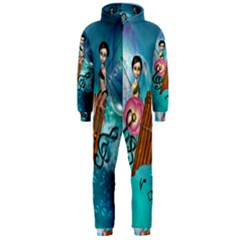Music, Pan Flute With Fairy Hooded Jumpsuit (Men)