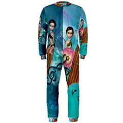 Music, Pan Flute With Fairy OnePiece Jumpsuit (Men)