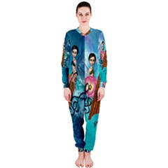 Music, Pan Flute With Fairy OnePiece Jumpsuit (Ladies)