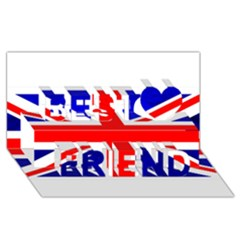 Brit1 Best Friends 3D Greeting Card (8x4)