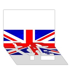 Brit1 LOVE Bottom 3D Greeting Card (7x5)