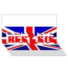 Brit1 Best Sis 3d Greeting Card (8x4)