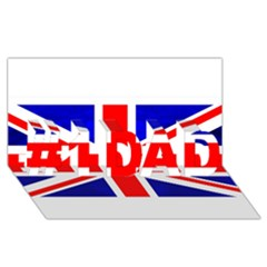 Brit1 #1 DAD 3D Greeting Card (8x4)