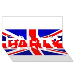 Brit1 Party 3d Greeting Card (8x4)