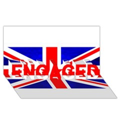 Brit1 Engaged 3d Greeting Card (8x4)