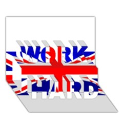 Brit1 WORK HARD 3D Greeting Card (7x5)