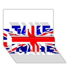 Brit1 Take Care 3d Greeting Card (7x5)