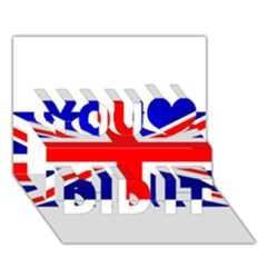 Brit1 You Did It 3d Greeting Card (7x5)