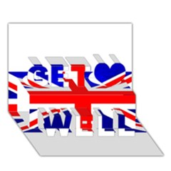 Brit1 Get Well 3D Greeting Card (7x5)