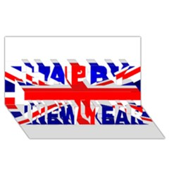 Brit1 Happy New Year 3D Greeting Card (8x4)