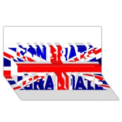 Brit1 Congrats Graduate 3D Greeting Card (8x4)
