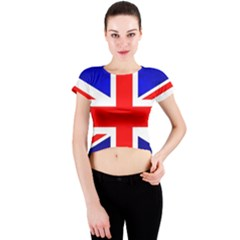 Brit1 Crew Neck Crop Top