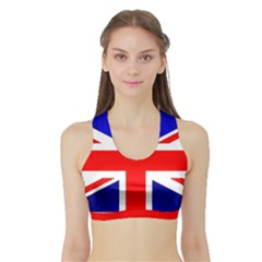 Brit1 Women s Sports Bra With Border