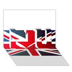 Brit2 I Love You 3D Greeting Card (7x5)