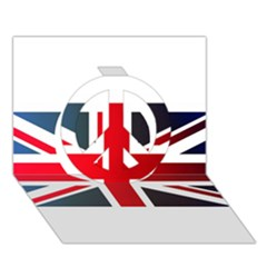 Brit2 Peace Sign 3d Greeting Card (7x5)