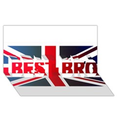 Brit2 Best Bro 3d Greeting Card (8x4)