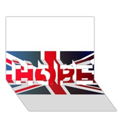 Brit2 Hope 3d Greeting Card (7x5)