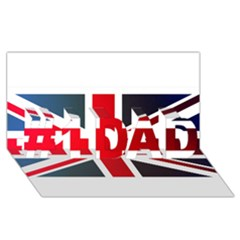 Brit2 #1 Dad 3d Greeting Card (8x4)