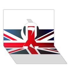 Brit2 Ribbon 3D Greeting Card (7x5)
